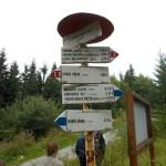 24. Na przełęczy pod Kojszowską Halą opuściliśmy szlak główny...
