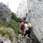 17. Szło się wąską ścieżką ocierając się o skały....