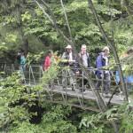 10. Przez Hornad przeszliśmy po metalowym mostku.