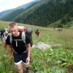 Na główną grań Fogaraszy wracaliśmy doliną potoku Serbota.