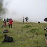 Mgła, która podążała za nami, tym razem czekała już na grani…