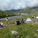 Relaks po założeniu obozu.