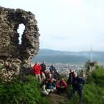 2. …skąd podziwialiśmy panoramę Chustu i doliny Cisy.