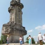 26. Ze wzgórza nad Kadzielnią oglądaliśmy panoramę Kielc.