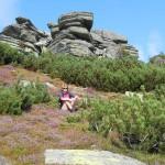 32. …robiąc pamiątkowe fotki na wrzosowiskach wśród skał…