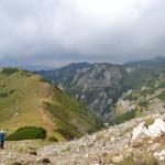 58. …i nasz szlak schodzący do doliny po przeciwnej stronie grzbietu.
