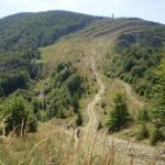 14. Kolejna przełęcz znów była niska, ale za nią wycinka odchodziła na zachód.