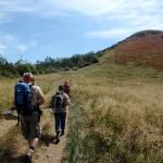 16. Na szczyt zamierzaliśmy wejść od tyłu łatwiejszym podejściem pokonując najpierw trawers.