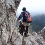 20. Zejście kominem skalnym wymagało wzmożonej uwagi…