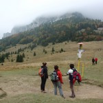 23. Z przełęczy Medziholie nie dojrzeliśmy już szczytu pokrytego czapą chmur.