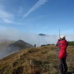 32. Nieoczekiwanie mgły rozstąpiły się ukazując wierzchołki Hromovego i Wielkiego Krywania.