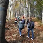 4. Podejścia pięknym lasem bukowym raz były strome i trudne…
