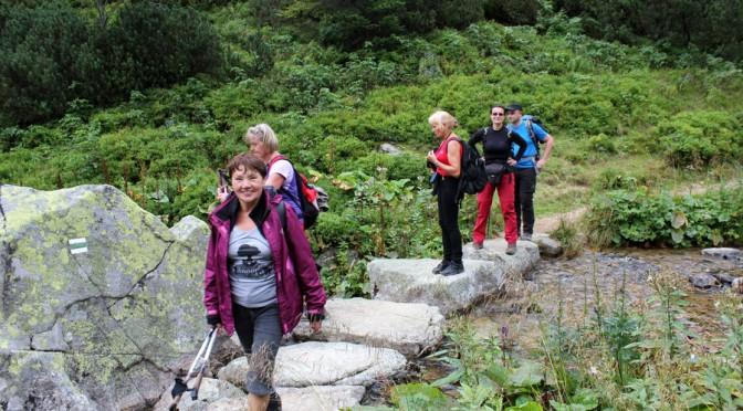 46. Schodzili szlakiem zielonym wzdłuż potoku Demianowka.
