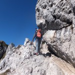 47. Droga na szczyt wiodła skalnym kominem…
