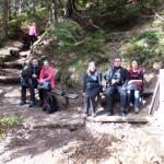 7. Na podejściu zielonym szlakiem odpoczęliśmy przy źródełku.