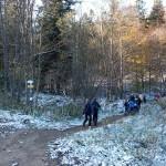 4. …podążaliśmy niebieskim szlakiem.