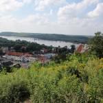 Widok na miasto i dolinę Wisły.