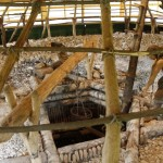 Rekonstrukcja neolitycznej kopalni wzbudziła nasz podziw.