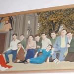 Obraz przedstawiający poległych Jędrusiowych partyzantów.