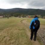 59. Z kolejnego lasku wyszliśmy wprost na Przęłęcz Rydza-Śmigłego...