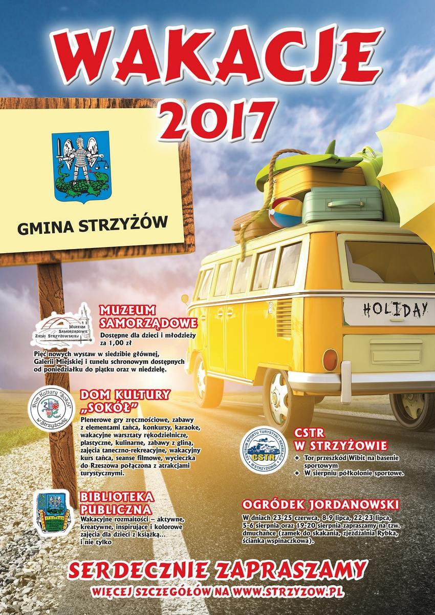 Plakat Wakacje 2017
